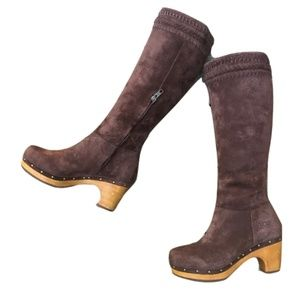 new👢UGG® Chocolate Rosabella Knee High Clog Boots